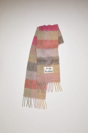 Acne Studios FN-UX-SCAR000029 /lilac/pink Multi check scarf