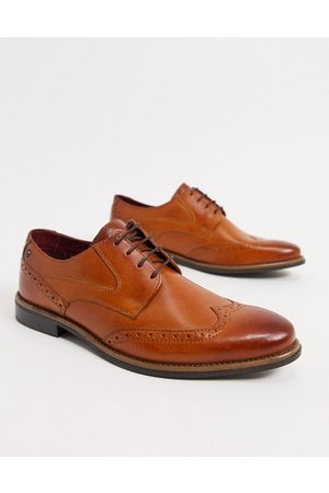 Base London Risco brogues in tan leather