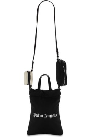 Palm Angels Logo Print Nylon Mirror Shopping Bag