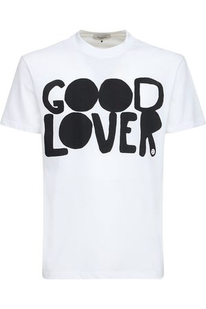 VALENTINO Good Lover Print Cotton T-shirt