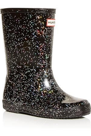 Hunter Girls' Classic Giant Glitter Rain Boots - Walker, Toddler, Little Kid