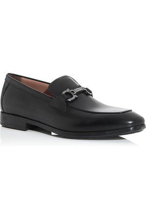 Salvatore Ferragamo Men's Ree Double Gancini Bit Leather Loafers - Narrow
