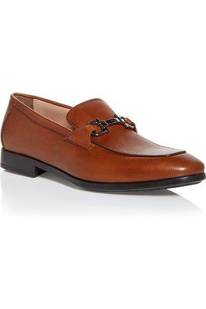 Salvatore Ferragamo Men's Ree Double Gancini Bit Leather Loafers - Regular