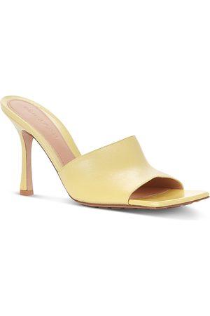 Bottega Veneta Women's Square Toe High Heel Slide Sandals