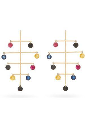 PERSÉE Calder Sapphire, Amethyst & 18kt Earrings - Womens