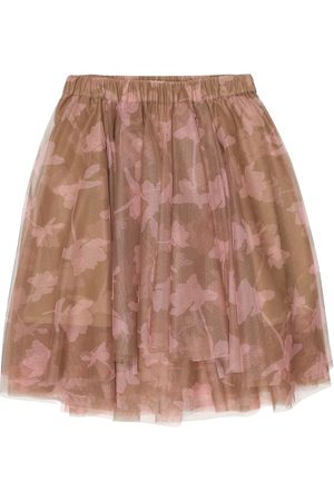 Brunello Cucinelli Printed tulle skirt