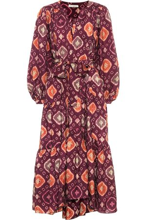 ULLA JOHNSON Printed silk midi dress