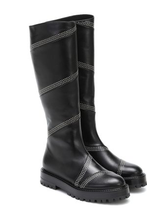 Alaïa Studded leather knee-high boots
