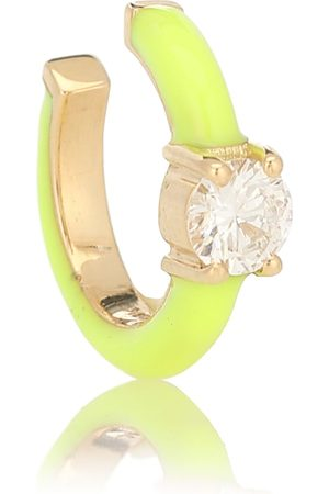 Melissa Kaye Aria 18kt gold ear cuff with diamonds