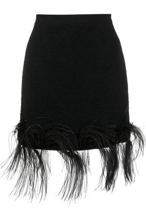 Patou Women Mini Skirts - Feather trim mini skirt