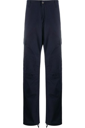Carhartt Men Cargo Pants - Logo-patch cotton cargo trousers