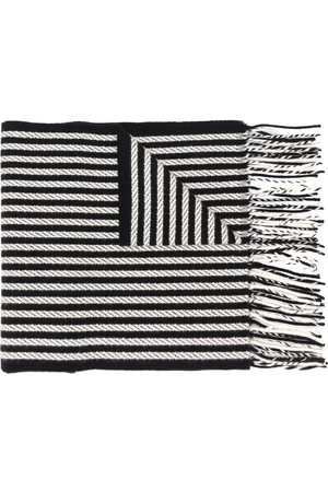 Saint Laurent Fringed woven stripe scarf