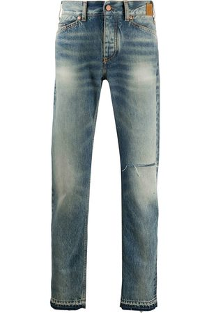 Palm Angels Men Slim - Rip detail faded jeans
