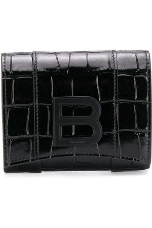 Balenciaga Crocodile-effect leather wallet