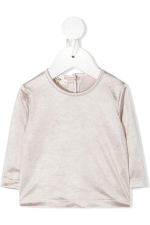 Caffe' D'orzo Round neck long-sleeved T-shirt - Neutrals