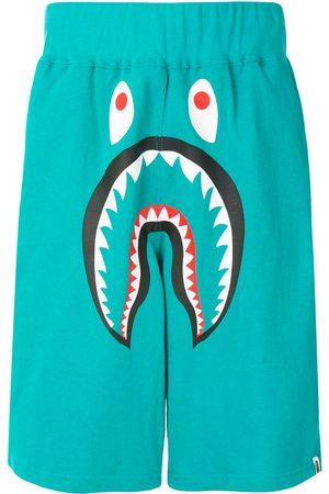 A Bathing Ape Men Shorts - Shark wide track shorts