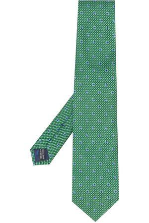 Salvatore Ferragamo Men Bow Ties - Gancini print silk tie