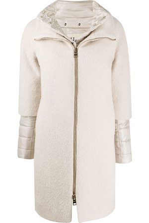 HERNO Padded-detail mid-length coat - Neutrals