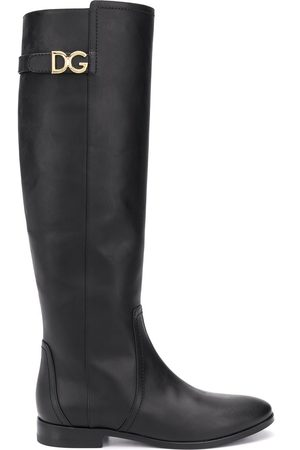 Dolce & Gabbana Knee-length logo plaque boots