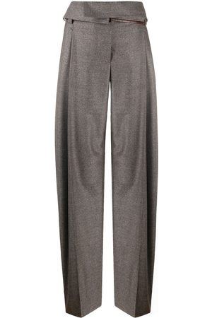 Stella McCartney Women Bags - Paper-bag waist pleated trousers