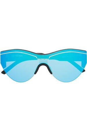 Balenciaga Mirrored oversized sunglasses