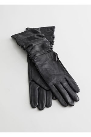 & OTHER STORIES Ruched Leather Gloves