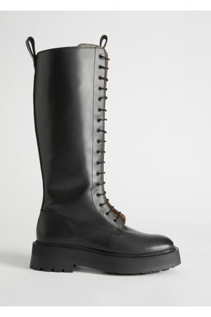 & OTHER STORIES Chunky Knee High Leather Boots