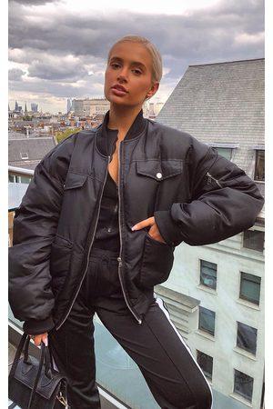 PRETTYLITTLETHING Women Bomber Jackets - Oversized Bomber