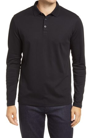 Robert Barakett Men's Georgia Long Sleeve Polo