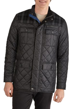 Cole Haan Signature Men's Mixed Media Quilted Jacket