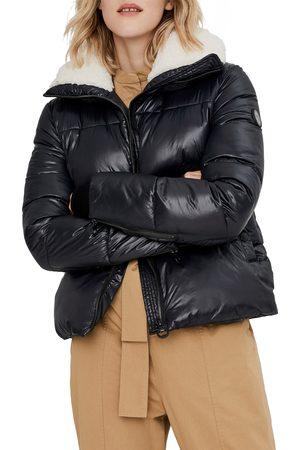 Noize Women's Felicia Fleece Trim Crop Puffer Coat