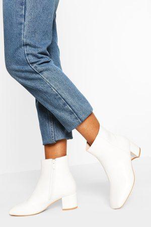 Boohoo Womens Wide Width Low Block Heel Shoe Boot - - 5