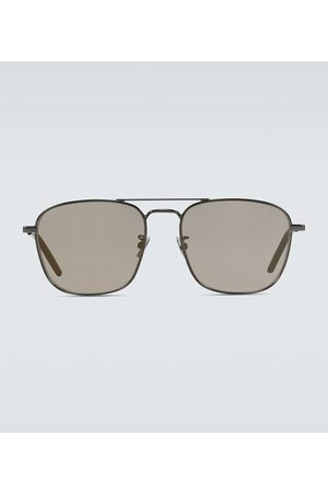 Saint Laurent Square-frame aviator sunglasses