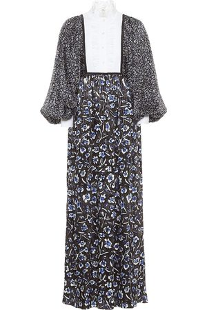 Tory Burch Women Printed Dresses - Floral stretch-silk maxi dress