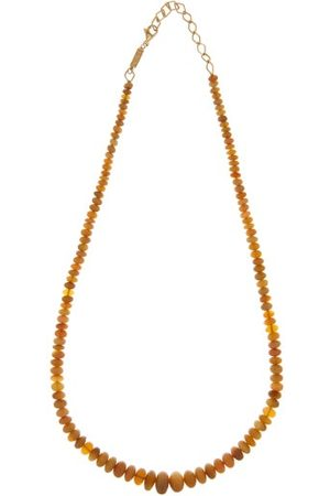 Azlee Opal & 18kt Gold Beaded Necklace - Womens - Multi