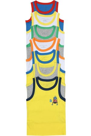 Stella McCartney Set of 7 cotton-jersey tank tops