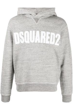 Dsquared2 Vertical logo hoodie - Grey