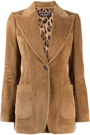 Dolce & Gabbana Corduroy single-breasted blazer - Neutrals