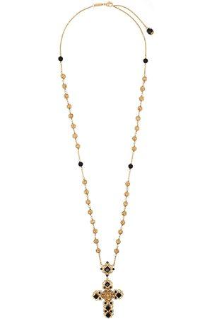 Dolce & Gabbana Women Necklaces - Stone-embellished cross necklace