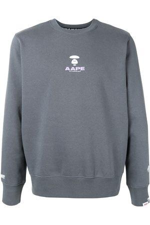AAPE BY *A BATHING APE® Logo print crewneck sweatshirt - Grey