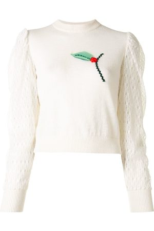 Onefifteen Floral embroidery knit jumper