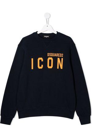 Dsquared2 Hoodies - TEEN logo-print cotton sweatshirt