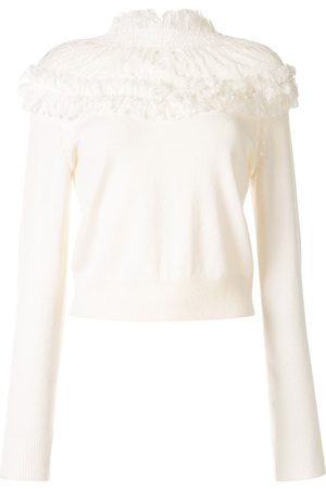 Onefifteen Lace-panel knit jumper