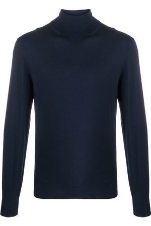 DELL'OGLIO Roll neck ribbed sweater