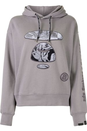 AAPE BY *A BATHING APE® Embroidered camo ape hoodie - Grey