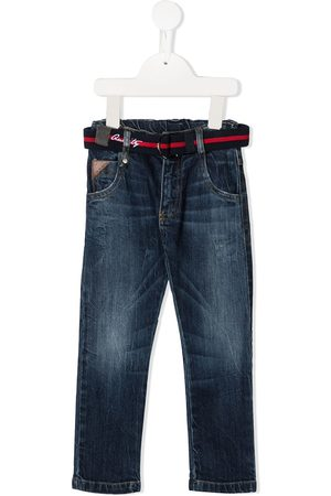 Lapin House Belted straight-leg jeans