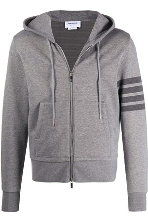 Thom Browne Cotton zip-up hoodie - Grey