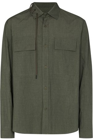 CRAIG GREEN Laced-collar long-sleeve shirt