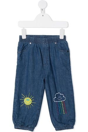 Stella McCartney Weather-embroidery denim jeans