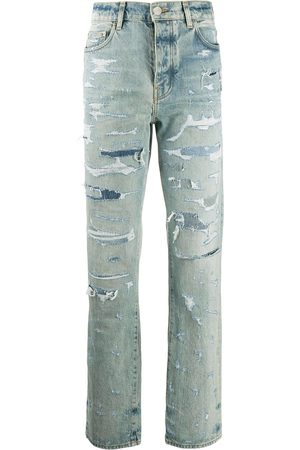 AMIRI Ripped straight-leg jeans